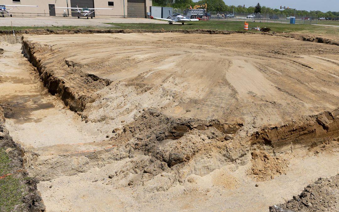 Construction of Hangar 4 Begins