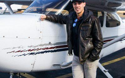 Chris is a pilot!